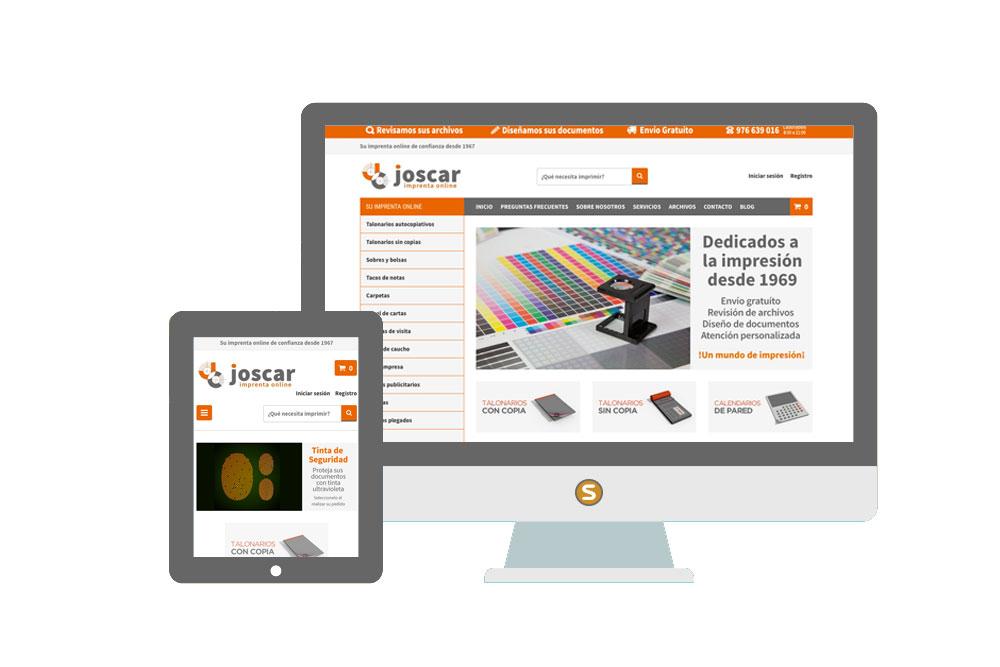 Tienda online Imprenta Joscar