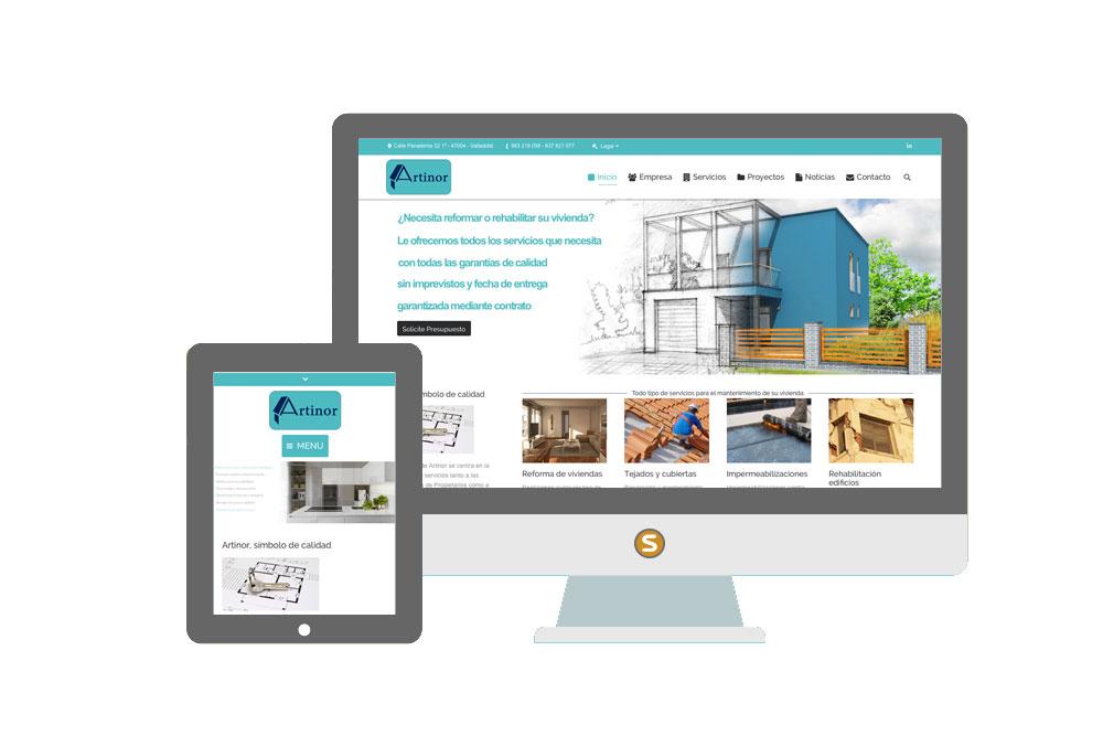 Diseño web Artinor